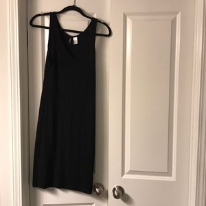 H&M Black Midi Dress Size 4